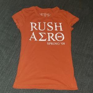 Orange and White Rush Aero Greek Shirt